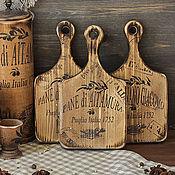 Для дома и интерьера handmade. Livemaster - original item A set of cutting/cheese boards pine