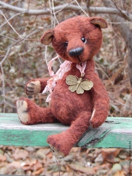 Мишки Тедди ручной работы. Ярмарка Мастеров - ручная работа. Купить Туся Кармашкина, Мишка тедди (сестренка Тоси) уехала к мамочке. Handmade.