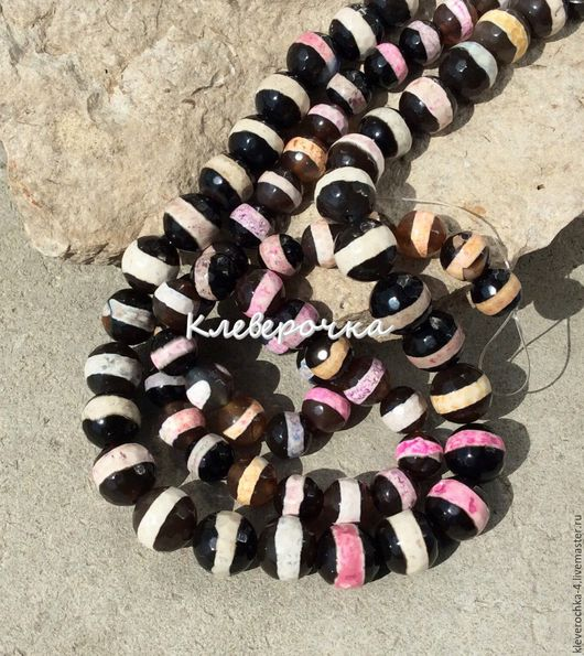 Для украшений ручной работы. Ярмарка Мастеров - ручная работа. Купить Агат 8,10 мм шар полосатый бусины камни для украшений. Handmade.
