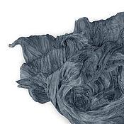 """Аксессуары ручной работы. Ярмарка Мастеров - ручная работа Шарф шелковый батик.""""Платина"""".Шелковый шарф.. Handmade."""