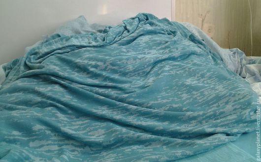 Шитье ручной работы. Ярмарка Мастеров - ручная работа. Купить Трикотаж милитари цвета морской волны, Италия. Handmade. вискоза