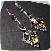 Украшения handmade. Livemaster - original item Earrings with tourmaline
