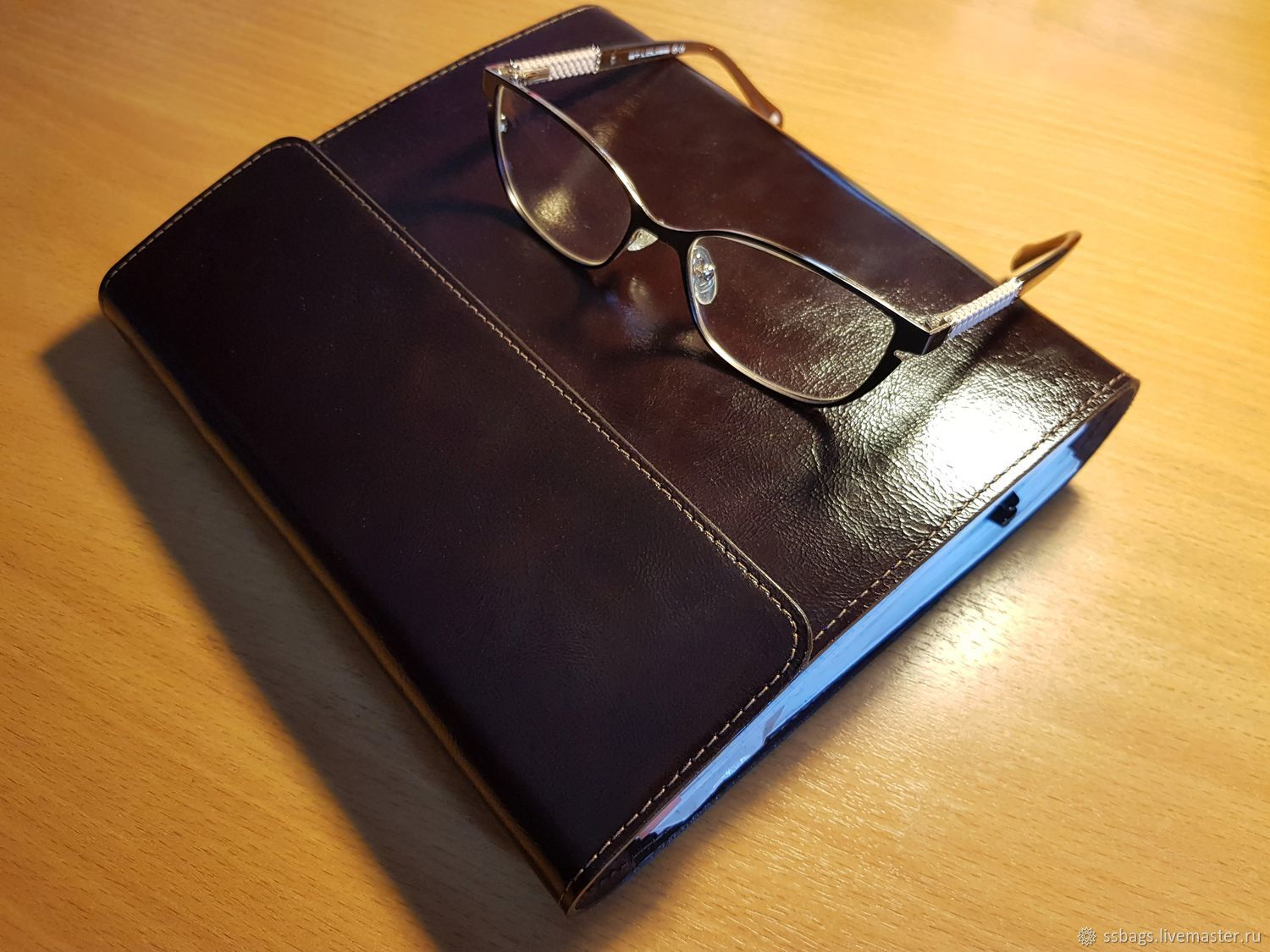 Cover two notebooks of natural leather. Folder leather, Organizer, St. Petersburg,  Фото №1