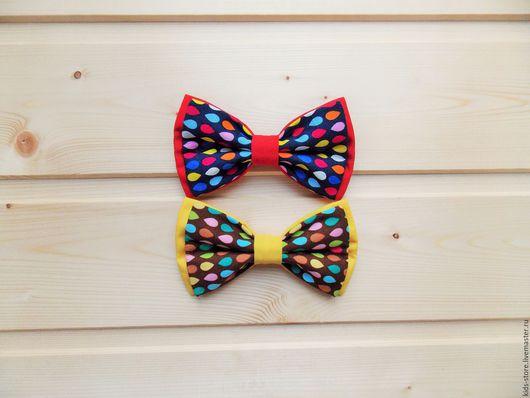 """Детские аксессуары ручной работы. Ярмарка Мастеров - ручная работа. Купить Детская галстук бабочка """"Дождь"""" / бабочка галстук с каплями. Handmade."""