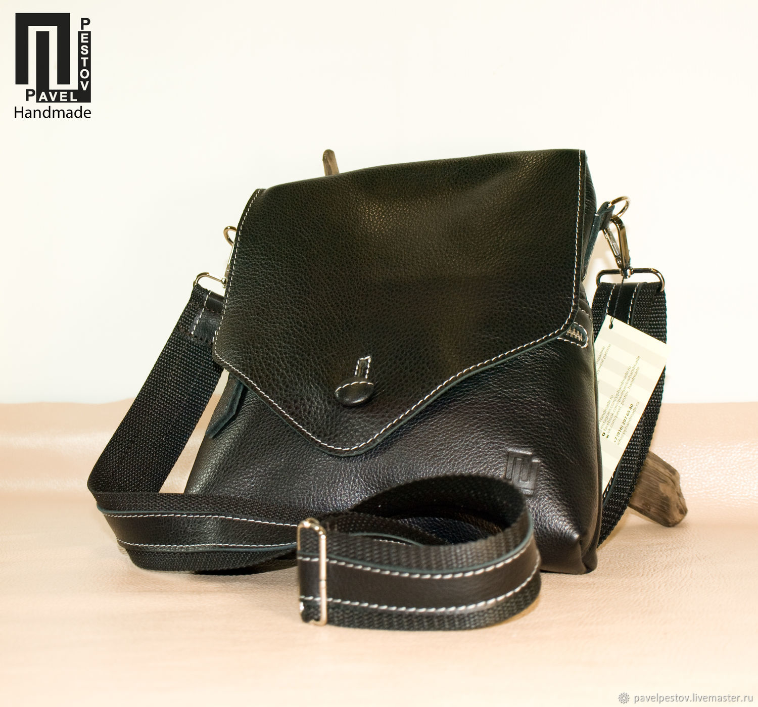 7e43219613f5 Men s Bags handmade. Livemaster - handmade. Buy Men s shoulder bag Black ( envelope) ...