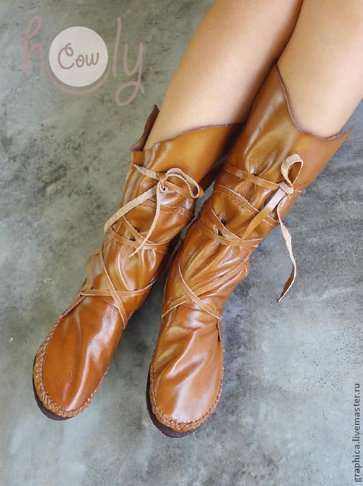 Обувь ручной работы. Ярмарка Мастеров - ручная работа. Купить Уникальные кожаные мокасины «Groovy Brown Bear». Handmade. Мокасины