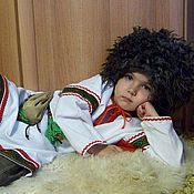 Русский стиль handmade. Livemaster - original item Traditional Slavic costume for a boy with green trim. Handmade.