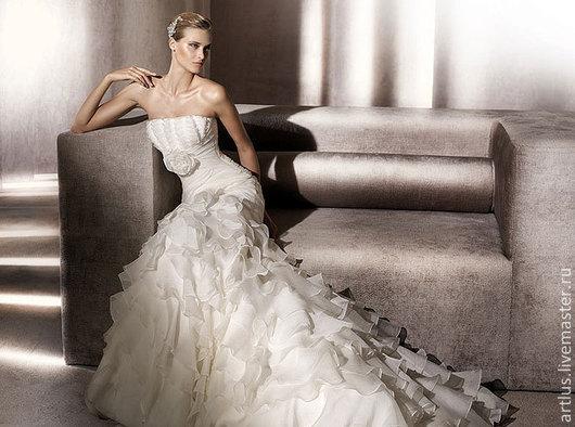 Платья ручной работы. Ярмарка Мастеров - ручная работа. Купить свадебное платье. Handmade. Белый, свадебные аксессуары, свадебный букет