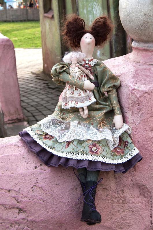 Куклы Тильды ручной работы. Ярмарка Мастеров - ручная работа. Купить Эллисон. Тильда кукла.. Handmade. Зеленый