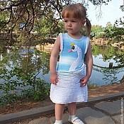 Работы для детей, handmade. Livemaster - original item sundress Swan Princess a knitted summer baby girls copyright. Handmade.