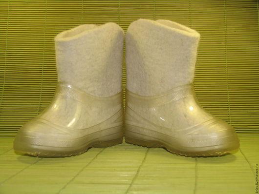 Обувь ручной работы. Ярмарка Мастеров - ручная работа. Купить валеночки Белые. Handmade. Валенки ручной валки, детская обувь