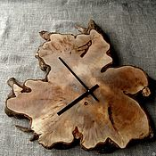Для дома и интерьера handmade. Livemaster - original item Wall clock made of black alder root. Handmade.