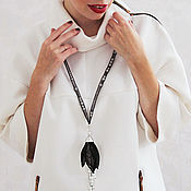 "Necklace handmade. Livemaster - original item Сотуар ""Черный тюльпан"". Handmade."