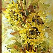 Картины и панно handmade. Livemaster - original item Sunflowers. Handmade.
