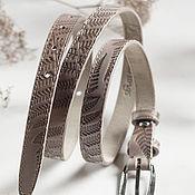 Аксессуары handmade. Livemaster - original item Beige Brown Belt for Women. Handmade.