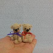 Куклы и игрушки ручной работы. Ярмарка Мастеров - ручная работа Мишки вязаные    Крошки на ладошке. Handmade.