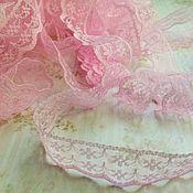 Материалы для творчества ручной работы. Ярмарка Мастеров - ручная работа Кружево капроновое, ширина 2 см, цвет нежно- розовый. Handmade.