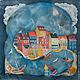 Шали, палантины ручной работы. Ярмарка Мастеров - ручная работа. Купить Морская кошка - шелковый платок с ручной росписью (батик). Handmade.