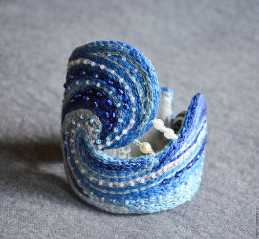 Браслеты ручной работы. Ярмарка Мастеров - ручная работа. Купить Морской браслет. Handmade. Комбинированный, металлическая фурнитура