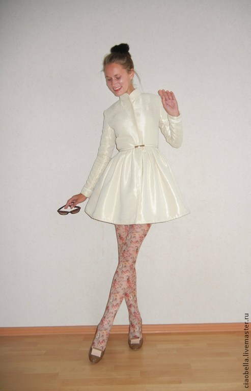"""Верхняя одежда ручной работы. Ярмарка Мастеров - ручная работа. Купить Пальто """"Voile de romantic"""". Handmade. Бежевый"""