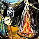 Этно ручной работы. картина маслом ШАМАН. Юлия-Yulitaya. Ярмарка Мастеров. Луна, холст на подрамнике