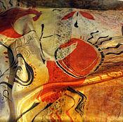 """Платки ручной работы. Ярмарка Мастеров - ручная работа Платок шейный батик """"Мезенские корни"""". Handmade."""