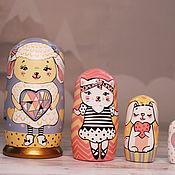 Куклы и игрушки handmade. Livemaster - original item Educational Toy Matryoshka Gentle Lamb wooden toy home decor. Handmade.