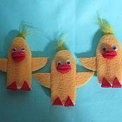 Куклы и игрушки ручной работы. Ярмарка Мастеров - ручная работа Утята. Пальчиковая кукла.. Handmade.