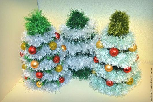 Новый год 2017 ручной работы. Ярмарка Мастеров - ручная работа. Купить Вязаная новогодняя елочка. Handmade. Новогодний подарок