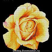"""Материалы для творчества ручной работы. Ярмарка Мастеров - ручная работа НАБОР для вышивки БИСЕРОМ   """"Желтая роза"""". Handmade."""