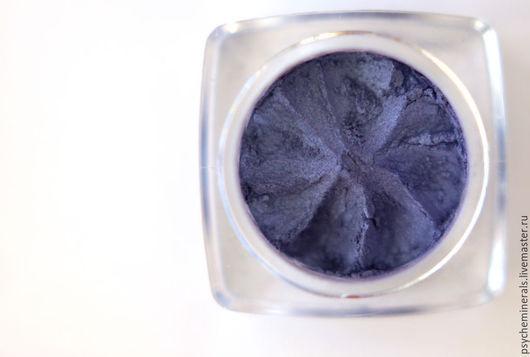 Декоративные минеральные тени купить, минеральная косметика купить, набор минеральной косметики, тени для век купить, темно-синий, синие тени купить