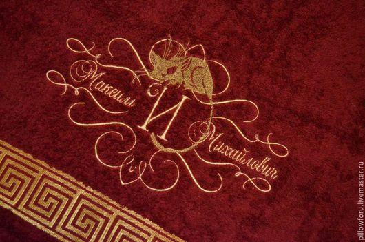 Махровое полотенце Cleanelly в размере 70*130 с любой именной вышивкой