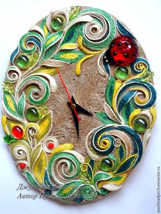 """Часы для дома ручной работы. Ярмарка Мастеров - ручная работа. Купить Часы """"Разноцветное лето"""". Handmade. Разноцветный, часы настенные"""