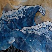 Аксессуары ручной работы. Ярмарка Мастеров - ручная работа Шарф-Батик``Большая волна``. Handmade.