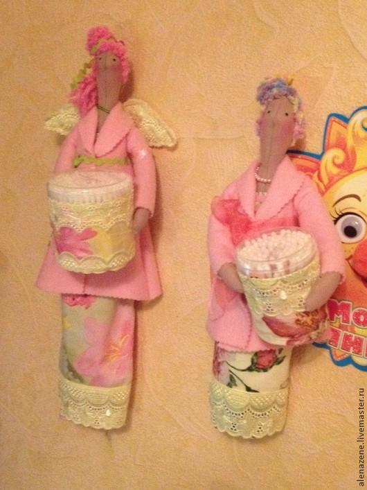 Куклы Тильды ручной работы. Ярмарка Мастеров - ручная работа. Купить Банные феи Гретхен и Элиза. Handmade. Розовый, бисер