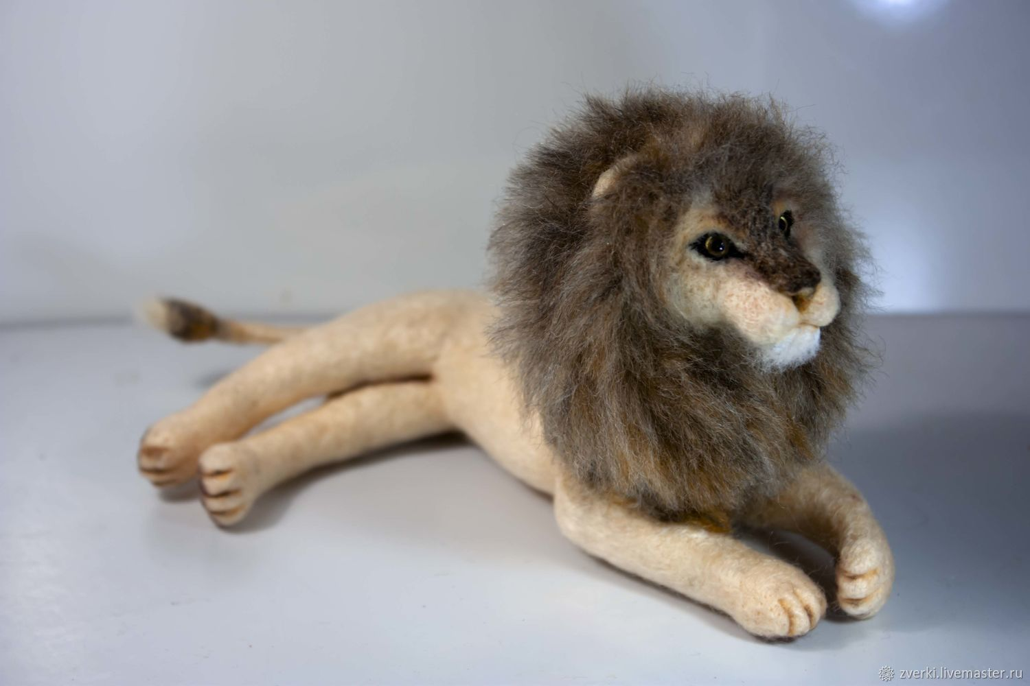 Lion, felted toy, Felted Toy, Moscow,  Фото №1