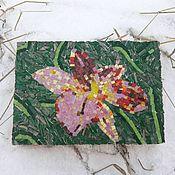 """Картины и панно ручной работы. Ярмарка Мастеров - ручная работа панно """"Лилия"""". Handmade."""