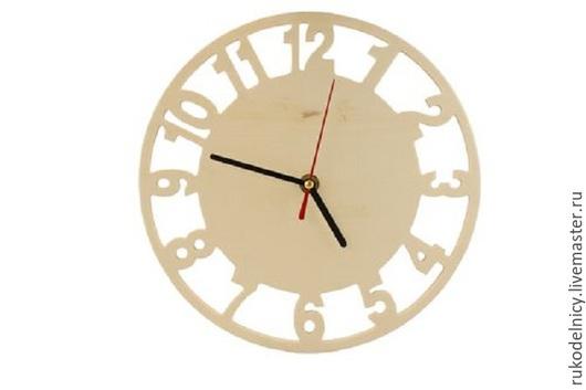 Деревянная заготовка Часы (с часовым механизмом) -24*24см -595 руб