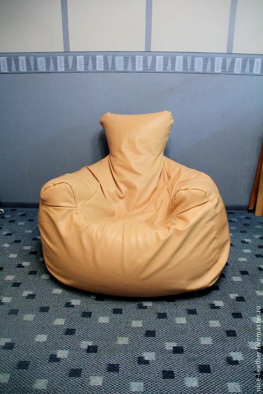 Мебель ручной работы. Ярмарка Мастеров - ручная работа. Купить Кресло мешок  кожаный. Handmade. Бежевый, мебель ручной работы