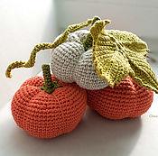 Куклы и игрушки ручной работы. Ярмарка Мастеров - ручная работа Вязаные тыквы. Handmade.