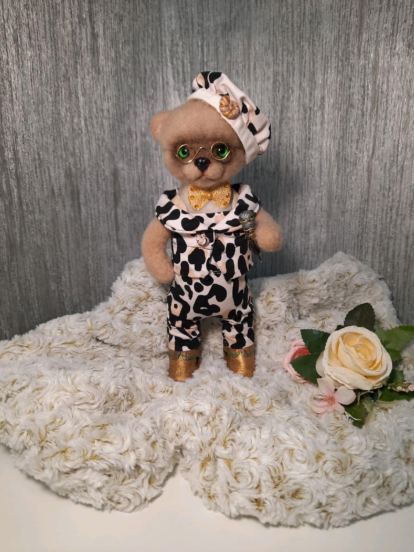 Войлочный мишка Артист, Войлочная игрушка, Саратов,  Фото №1
