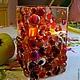 Подсвечники ручной работы. Ярмарка Мастеров - ручная работа. Купить ваза из стекла, фьюзинг   Тёплый свет. Handmade. Лилия Горбач