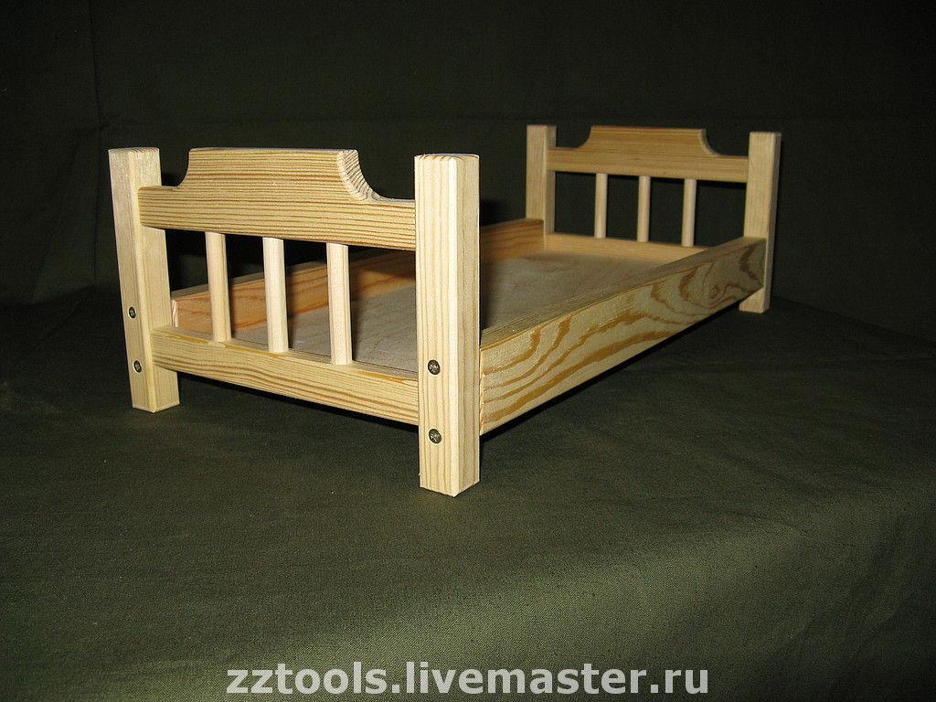 Как сделать кукольную кровать из дерева