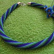 Украшения handmade. Livemaster - original item Necklace harness blue-green. Handmade.
