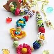 Слингобусы ручной работы. Ярмарка Мастеров - ручная работа Слингобусы развивающие, с игрушкой и грызунок - Летнее настроение. Handmade.