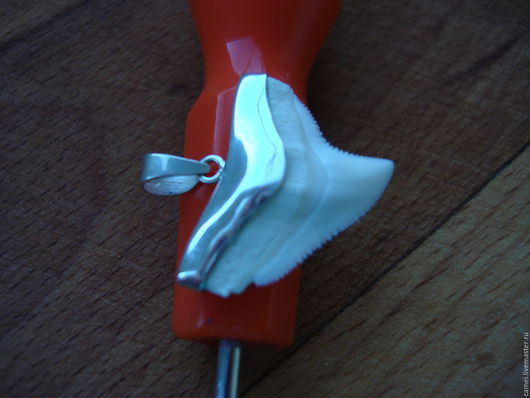 """Кулоны, подвески ручной работы. Ярмарка Мастеров - ручная работа. Купить оберег """"Зуб акулы"""", серебро. Handmade. Белый, подвеска"""