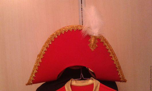 Шляпы ручной работы. Ярмарка Мастеров - ручная работа. Купить двууголка щелкунчика. Handmade. Ярко-красный, двууголка, щелкунчик