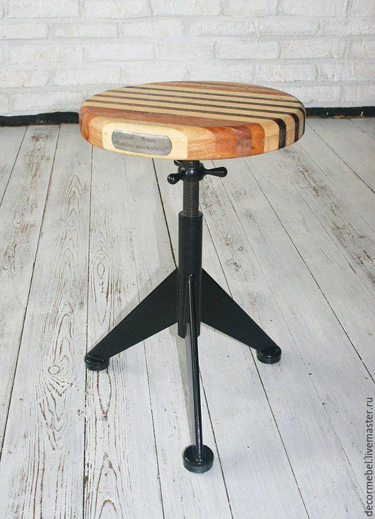 Мебель ручной работы. Ярмарка Мастеров - ручная работа. Купить Винтовой табурет табуретка стул. Handmade. Коричневый, стул