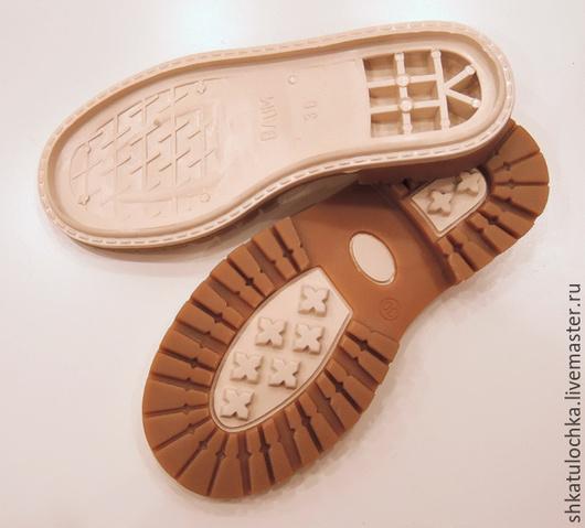 """Валяние ручной работы. Ярмарка Мастеров - ручная работа. Купить Детская подошва для уличной обуви """"Тимберленд"""" бежевая, 1пара. Handmade."""