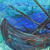 Картины и панно ручной работы. Ярмарка Мастеров - ручная работа В поисках сокровищ. Авторская картина акрилом. Handmade.